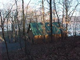 A view of the Environmental Field Station with the Hudson River in the Background
