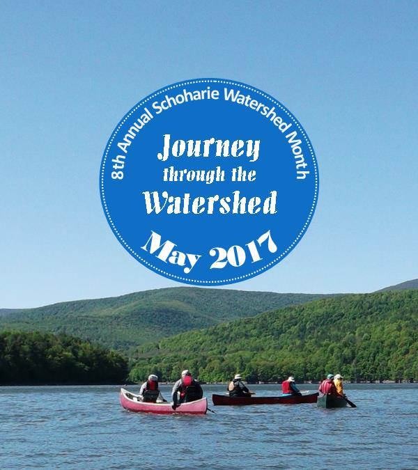 schoharie watershed month 2017 logo with background