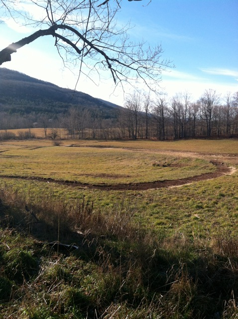 A section of the Windham Path, the 1.5 mile course was designed with the stream and mountainous landscape in mind.