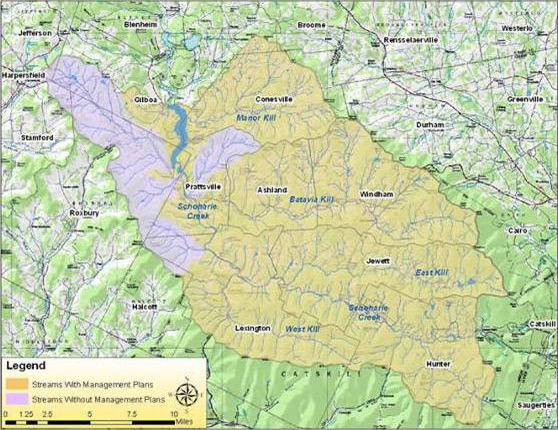 Schoharie Watershed, see legend to determine eligible project areas